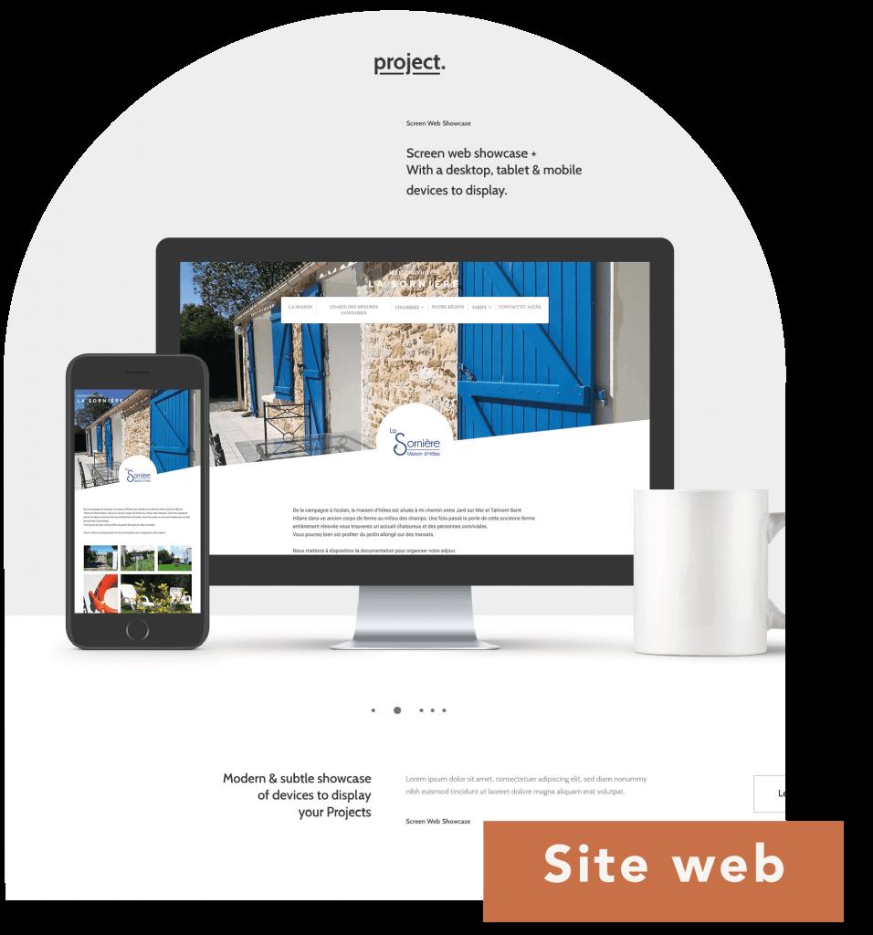 Site internet de la maison d'hôtes La Sornière